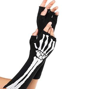 Accessories - Skeleton Fingerless Gloves